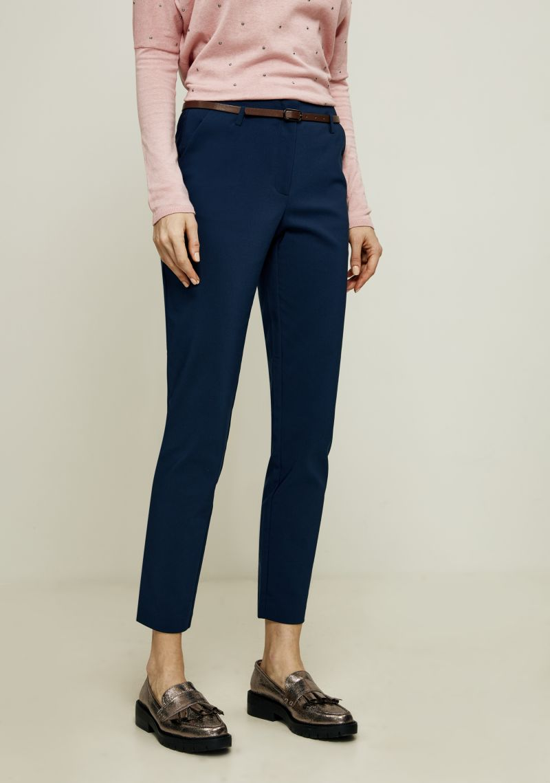 Брюки женские Zarina, цвет: синий. 8123216713040. Размер 46 брюки zarina zarina za004ewxrm01