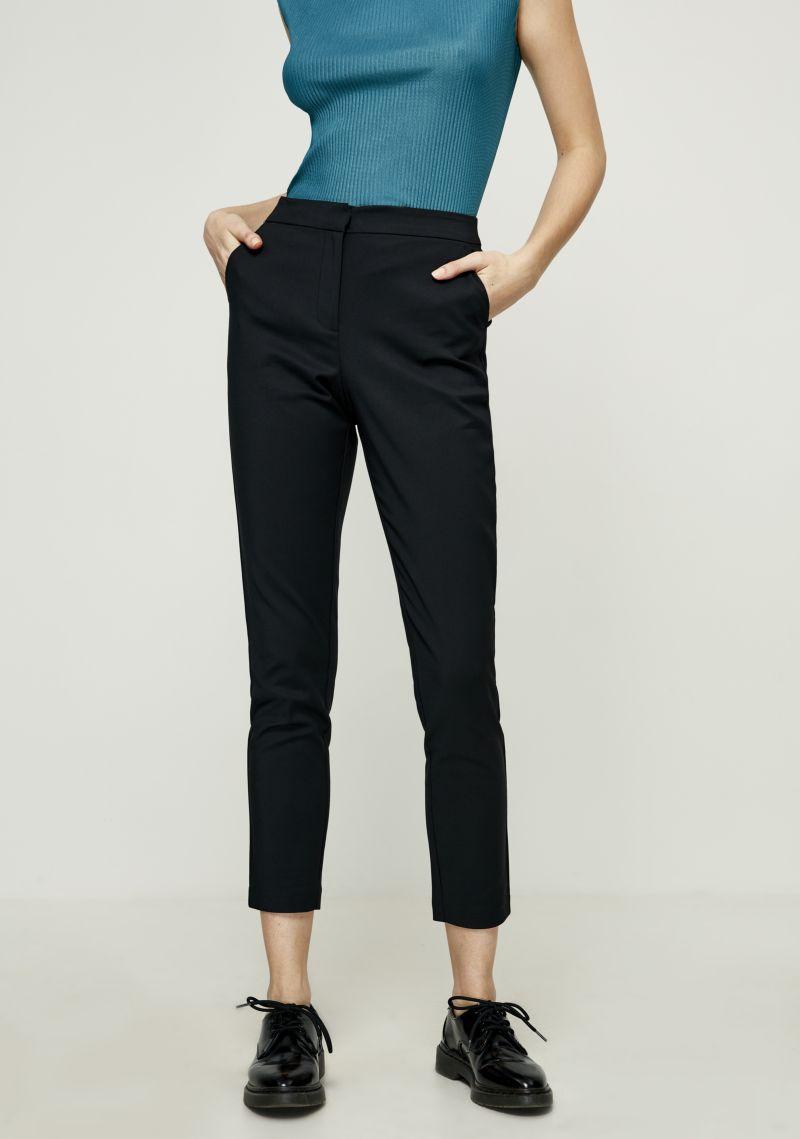 Брюки женские Zarina, цвет: черный. 8122210706050. Размер 44 брюки zarina zarina za004ewxrm01