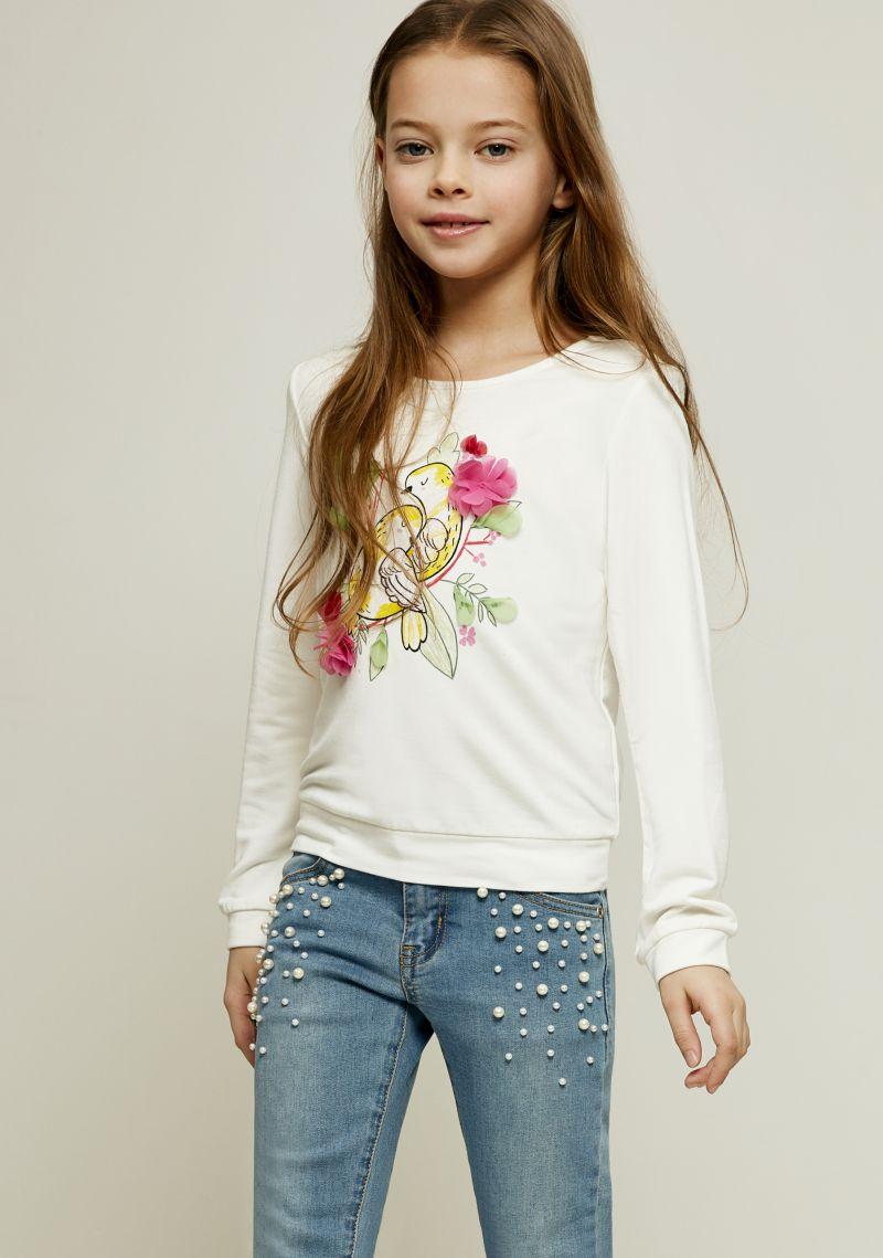 Джемпер для девочки Zarina, цвет: белый. 8122516416008D. Размер 122 джемпер для девочки zarina цвет белый 8122516416008d размер 122