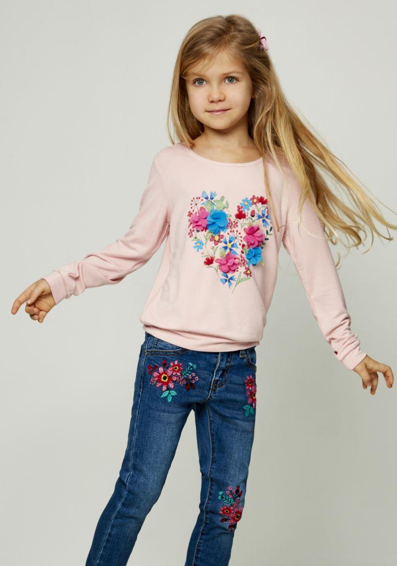 Джемпер для девочки Zarina, цвет: розовый. 8122516416045D. Размер 140 джемпер для девочки zarina цвет белый 8122516416008d размер 122