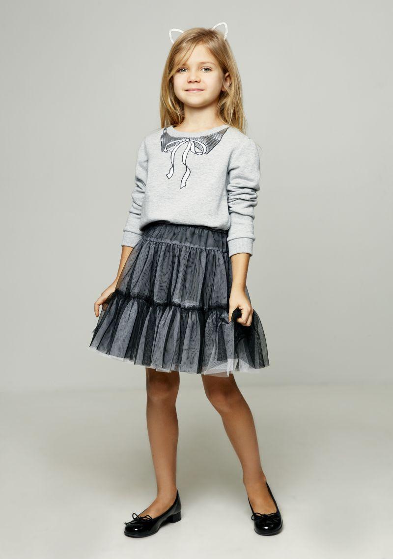 Джемпер для девочки Zarina, цвет: серый. 8122513413038D. Размер 140 джемпер для девочки zarina цвет белый 8122516416008d размер 122