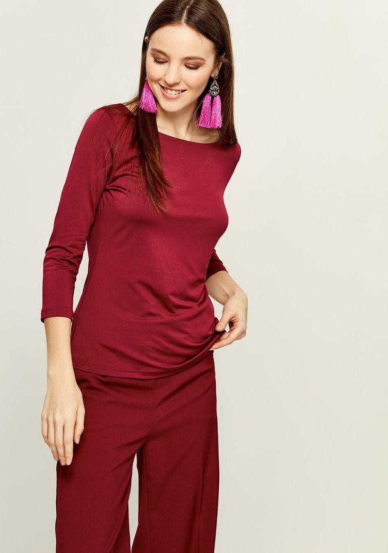 Джемпер женский Zarina, цвет: бордовый. 8121505408071. Размер M (46)