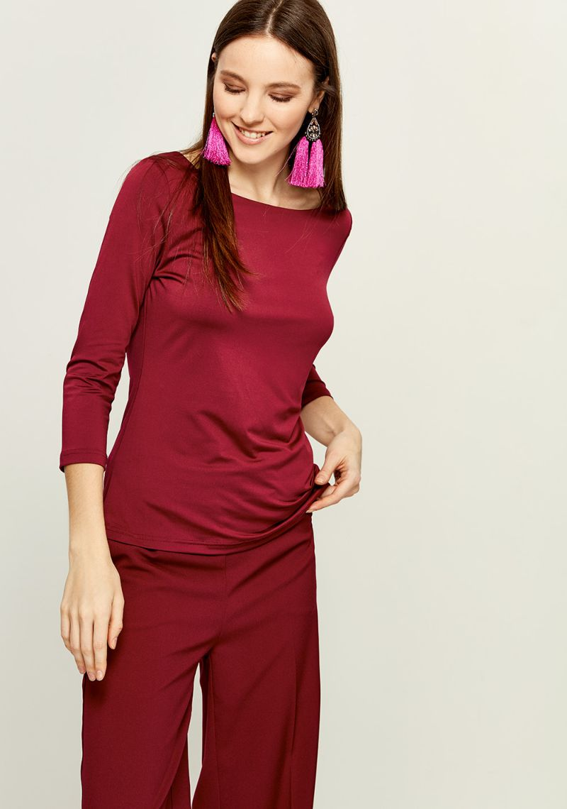 Джемпер женский Zarina, цвет: бордовый. 8121505408071. Размер M (46) джемпер zarina zarina za004ewcssx6