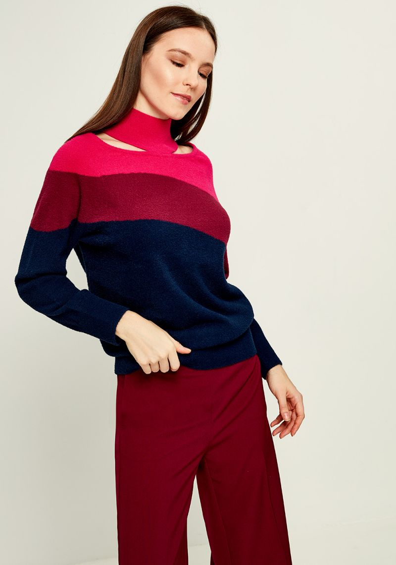 Джемпер женский Zarina, цвет: разноцветный. 8121603802089. Размер L (48)