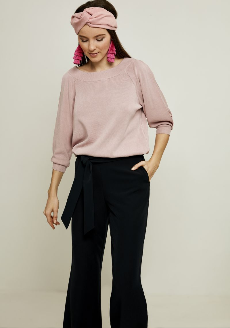 Джемпер женский Zarina, цвет: розовый. 8123623820093. Размер S (44) джемпер женский vero moda цвет розовый 10189425 misty rose размер s 42
