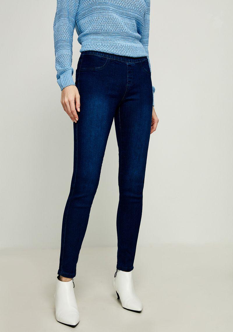 Джинсы женские Zarina, цвет: синий. 8122415708103. Размер 448122415708103Женские облегающие джинсы Zarina изготовлены из хлопка с добавлением полиэстера и эластана. Джинсы имеют широкую эластичную резинку на поясе. Сзади расположены два накладных кармана. Изделие оформлено имитацией ширинки и втачных карманов спереди.
