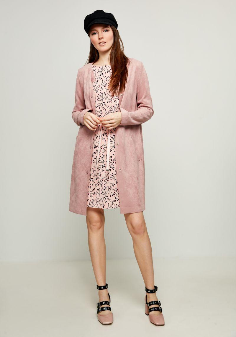 Пальто женское Zarina, цвет: розовый. 8123402117093. Размер 50 пальто zarina zarina za004ewabut4