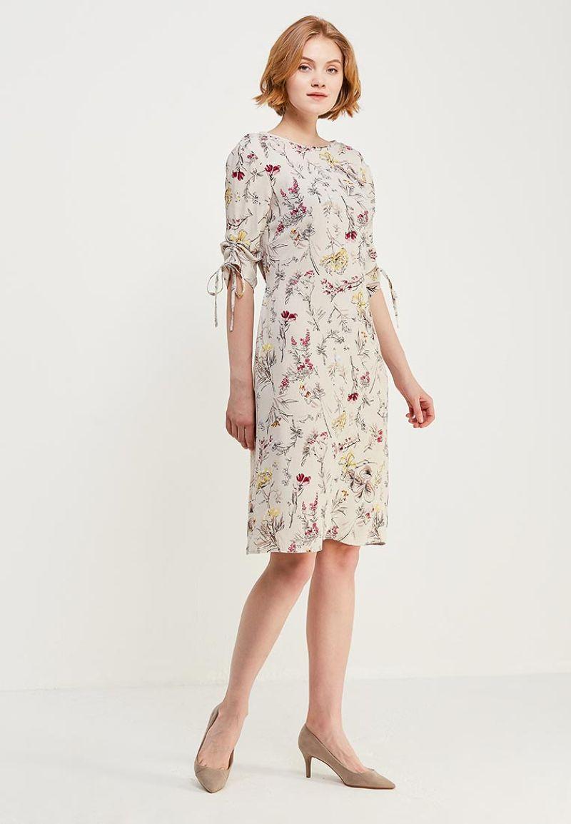 Платье Zarina, цвет: светло-бежевый. 8122019521036. Размер 50 платье zarina цвет синий 8123002502056 размер 50