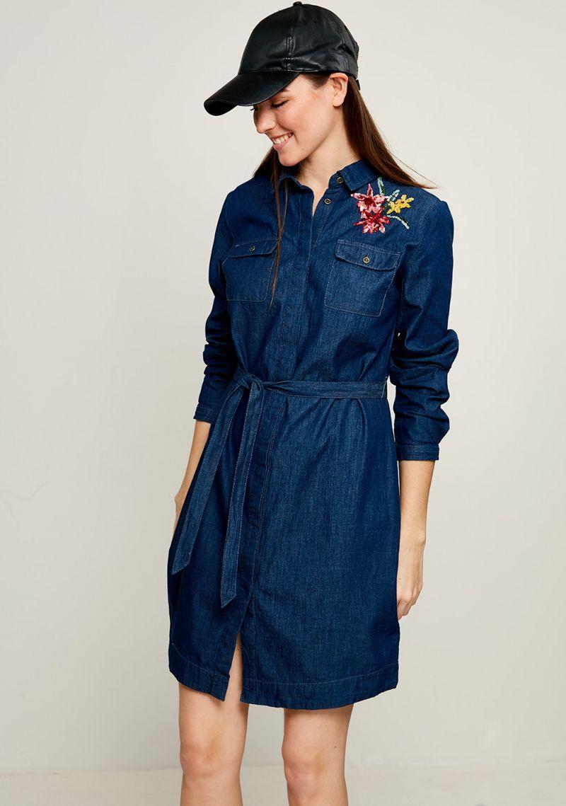 Платье Zarina, цвет: темно-синий. 8123411532104. Размер 44 платье футболка женское deha из трикотажного хлопка