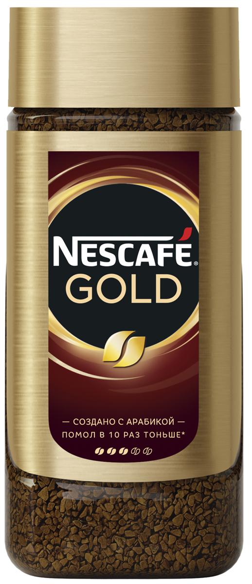 Nescafe Gold Кофе растворимый сублимированный с добавлением натурального жареного молотого кофе, 95 г12363540Новый кофе NESCAFE GOLD создан кофейными экспертами. Откройте для себя новый кофе NESCAFE GOLD! Секрет его богатого аромата и насыщенного вкуса - в зёрнах арабики, помолотых в 10 раз тоньше. Насладитесь по-настоящему идеальной чашкой кофе NESCAFE GOLD с ещё большим вкусом и ароматом из самой глубины кофейного зерна.