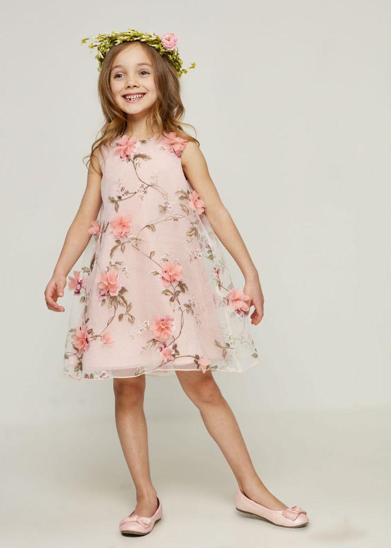 Платье для девочки Zarina, цвет: розовый. 8123033533094D. Размер 122 джемпер для девочки zarina цвет белый 8122516416008d размер 122