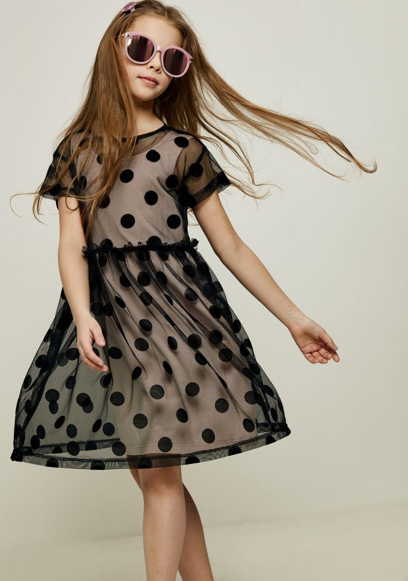 Платье для девочки Zarina, цвет: черный. 8122032532050D. Размер 1288122032532050D