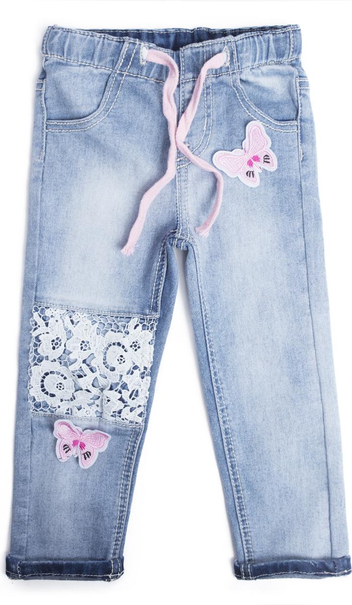 Джинсы для девочки PlayToday, цвет: голубой. 188053. Размер 80