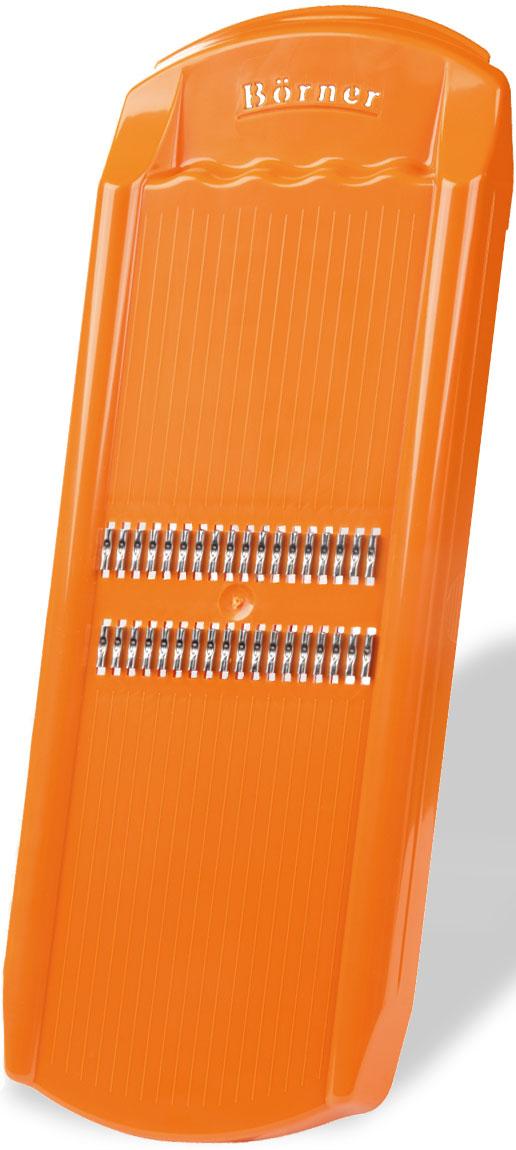 Роко-терка Borner Trend, для корейской моркови, цвет: оранжевый, 32,5 х 12,5 х 2,5 см ножеточка borner с вакуумным креплением