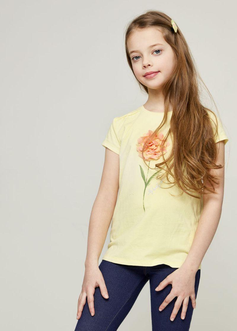 Футболка для девочки Zarina, цвет: желтый. 8123522422009D. Размер 146