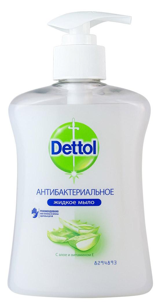 Жидкое мыло Dettol Увлажнение, с алоэ вера и молочными протеинами, 250 мл косметика для мамы urtekram жидкое мыло алоэ вера 380 мл