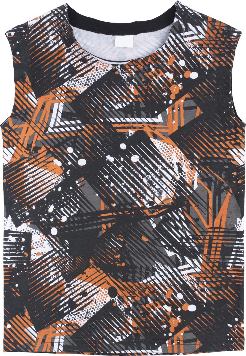 Майка для мальчика PlayToday Sport, цвет: черный, серый, белый. 180005. Размер 146/152 бусины из необработанного камня в украине