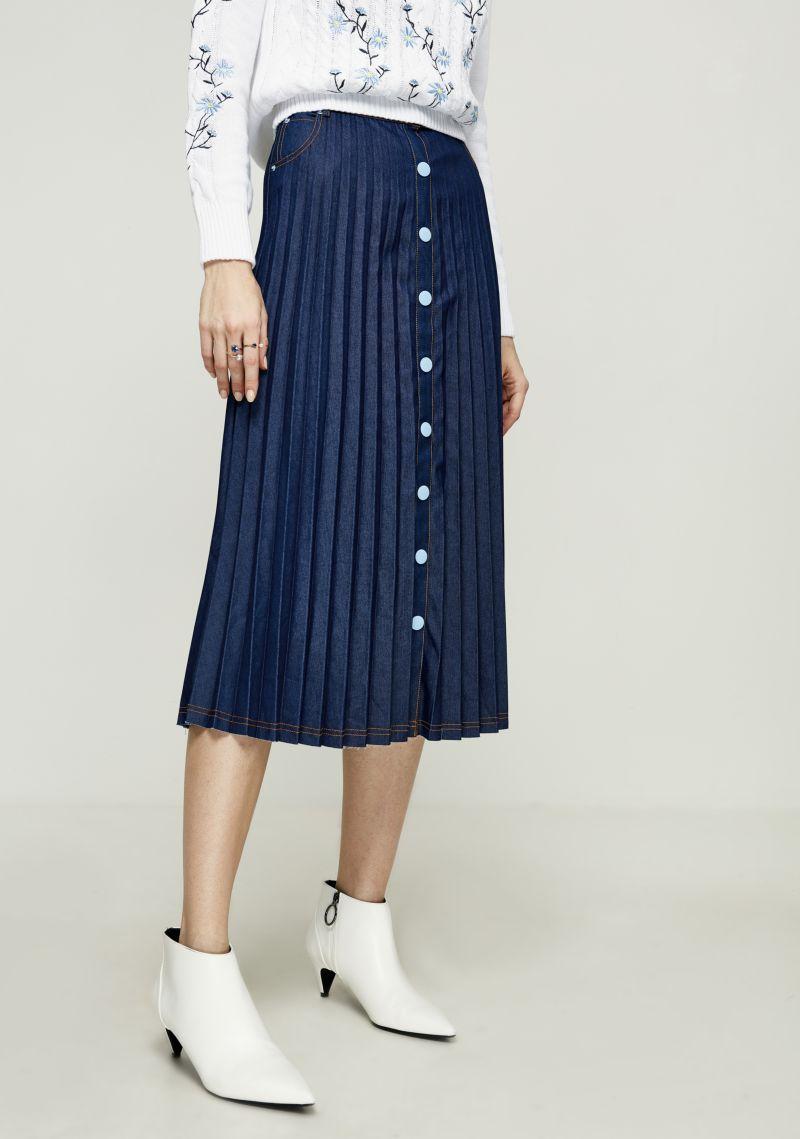 Юбка Zarina, цвет: темно-синий. 8122214207047. Размер 44 юбка zarina цвет темно зеленый 8224206203017 размер 50