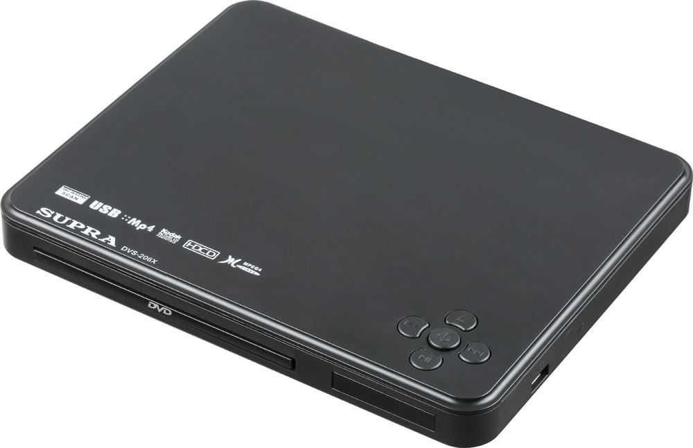Supra DVS-206X, Black DVD-плеер dvd плеер supra dvs 204x dvd плеер black