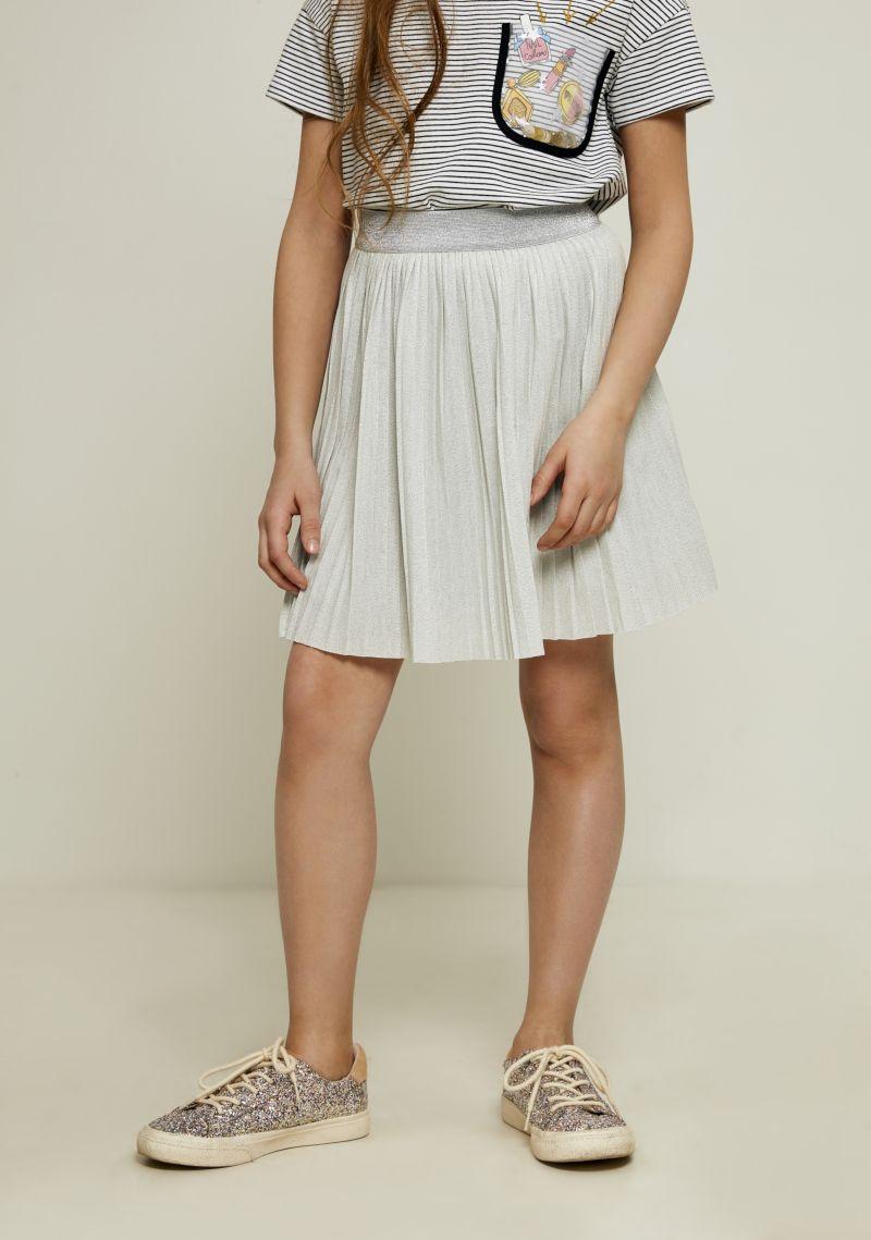 Юбка для девочки Zarina, цвет: светло-серый. 8122524213007D. Размер 1408122524213007D