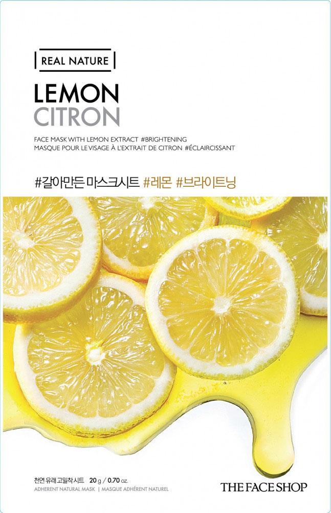 The Face Shop Тканевая маска для лица с экстрактом лимона REAL NATURE, 20 гУТ000001541Маска-салфетка для лица отбеливающая лимонная содержит 1000 мг чистого лимонного экстракта. Витамин С глубоко проникает в клетки кожи, осветляя и сохраняя ее прозрачность. Рекомендуется для тусклой кожи. Уважаемые клиенты! Обращаем ваше внимание на то, что упаковка может иметь несколько видов дизайна.Поставка осуществляется в зависимости от наличия на складе.