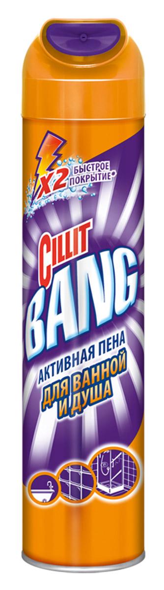 Средство Cillit Bang Активная пена для ванн и душа, 600мл. Инновационный   продукт для быстрой и легкой очистки больших поверхностей в ванной.   Современный дизайн колпачка для супер-широкого покрытия поверхностей.   Активная пена глубоко проникает и удаляет мыльный налет и грязь. Идеально   подходит для использования на многочисленных поверхностях ванной:   - керамическая плитка,   - душевая кабина, раковина и ванна (в том числе акриловые), хромированные и   стальные поверхности:  - активная пена глубоко проникает и эффективно удаляет мыльный налет и   грязь;  - подходит для использования на многочисленных поверхностях ванной.  Состав: бутан, пропан, менее 5% неионогенные ПАВ, отдушка, гексилциннамаль.  Не содержит озоноразрушающих веществ.Хранить в местах не доступных для детей. Внимание: Огнеопасно! Не использовать вблизи открытого огня и раскаленных   предметов. Не использовать вблизи источников тепла и включенных   электроприборов. Не применять на акриловых, латунных, алюминиевых, медных   и мраморных поверхностях. Не вдыхать аэрозоль. Баллон находится под   давлением - избегайте попадания прямых солнечных лучей. Не допускайте   замерзания. Избегайте попадания в глаза. В случае попадания в глаза   немедленно промойте их большим количеством воды. Не курить во время   использования. Не смешивать с другими чистящими средствами.   Утилизировать как обычные отходы.Применение: хорошо встряхните перед и во время использования. Держа   колпачком вверх, распылите на расстоянии 30-40 см от поверхности, которую   хотите очистить. Подождите 2 минуты, чтобы пена проникла в грязь и мыльный   налет (и до 10 минут в случае трудновыводимых пятен). Смойте водой или   протрите влажной губкой в случае трудновыводимых пятен. По желанию   протрите сухой тряпкой после смывания. Товар сертифицирован.    Как выбрать качественную бытовую химию, безопасную для природы и людей. Статья OZON Гид
