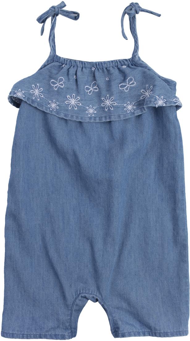 Полукомбинезон для девочки PlayToday, цвет: голубой. 188867. Размер 62