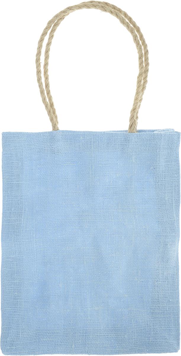 Сумка хозяйственная Подарок, цвет: голубой, 3 л3синЭксклюзивная упаковка для дорогих и близких. Сумочка выполнена из 100% льна. Текстура плетения ткани - мешковина. Подарок в такой упаковке выделит Вас из миллионов! Эко сумка - это практично, удобно, выгодно.