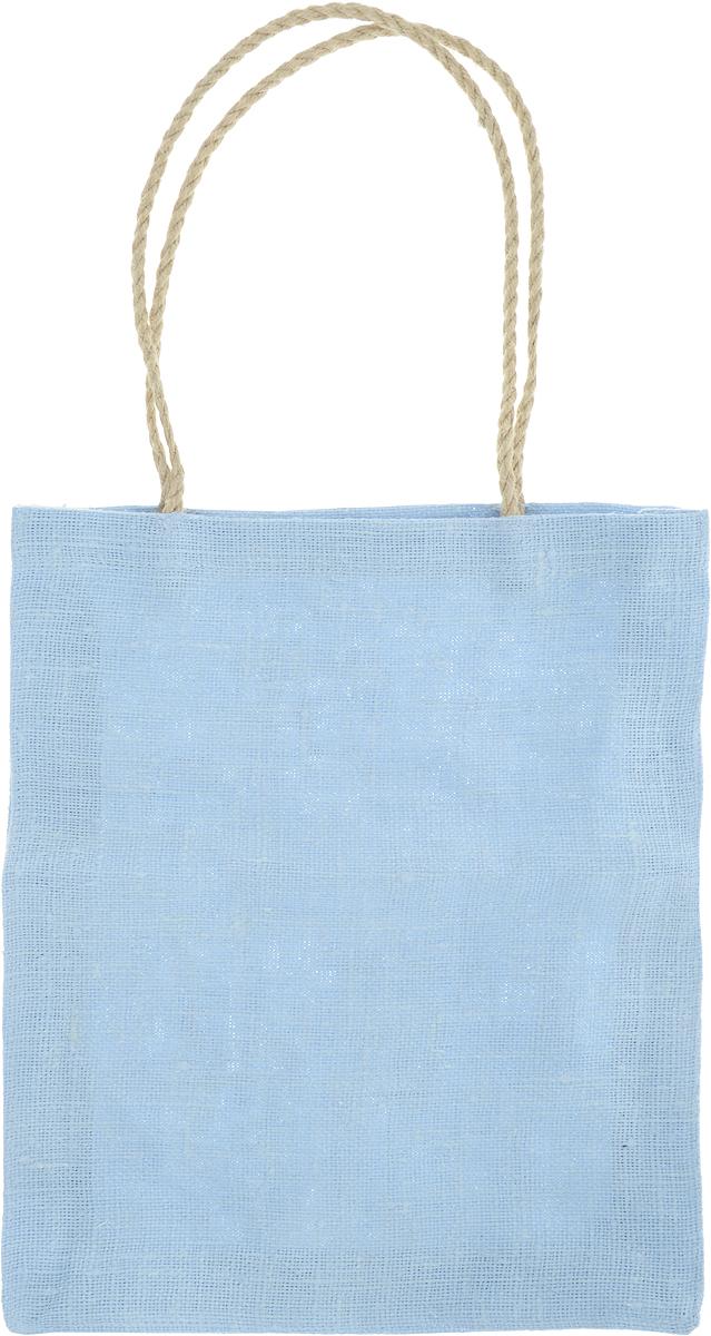 Сумка хозяйственная Подарок, цвет: голубой, 7 л2синЭксклюзивная упаковка для дорогих и близких. Сумочка выполнена из 100% льна. Текстура плетения ткани - мешковина. Подарок в такой упаковке выделит Вас из миллионов! Эко сумка - это практично, удобно, выгодно. Размеры сумки: 35 х 30 х 7 см.