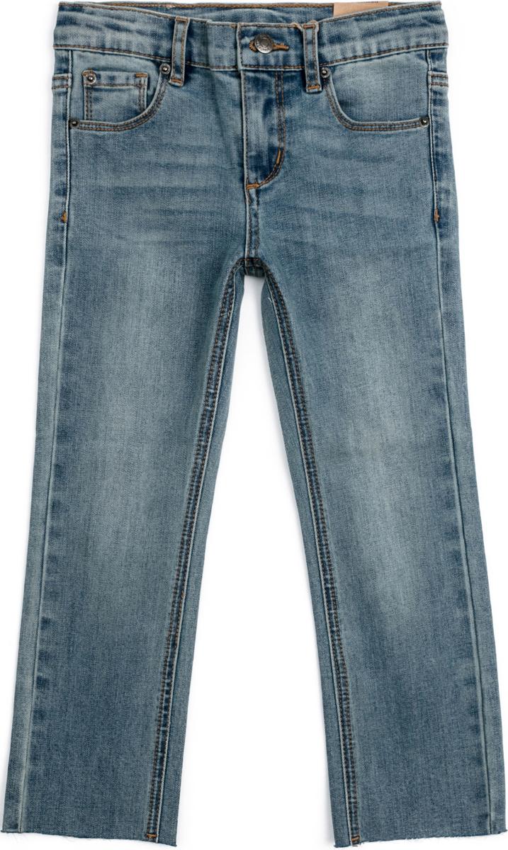 Джинсы для мальчика PlayToday, цвет: синий. 181108. Размер 134/140181108Классические джинсы выполнены из натурального материала. 5-ти карманная модель. Пояс со шлевками, при необходимости можно использовать ремень. Изнутри по ширине пояс регулируется за счет резинок на пуговицах. Низ штанин выполнен в технике необработанного края.