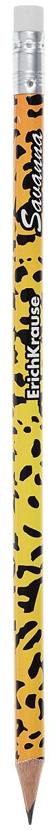 Erich Krause Карандаш чернографитный Savanna Леопард с ластиком 3286332863_леопардКруглый карандаш с оригинальным рисунком на корпусе. Карандаш оснащен ластиком. Прочный неломающийся грифель. Диаметр грифеля 2,2 мм, твердость HB.