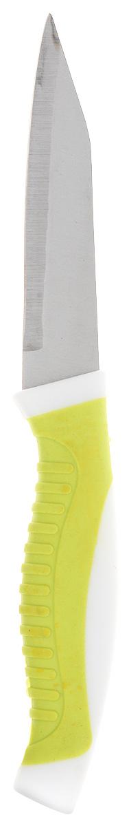 Нож Доляна Приам, цвет: салатовый, длина лезвия 9 см1702347_салатовыйНож Доляна Приам изготовлен из нержавеющей стали. Удобная ручка предохраняет руки от усталости. Яркий дизайн выгодно отличает нож от морально устаревших моделей. Правила ухода: перед первым применением нож необходимо тщательно промыть в горячей воде с добавлением чистящего средства; производите чистку ножа после каждого использования; не используйте абразивные моющие средства и металлические губки; перед тем, как убрать нож на хранение, обязательно протрите его сухим полотенцем. Внимание: лезвия ножей очень острые! Храните ножи в недоступном для детей месте.