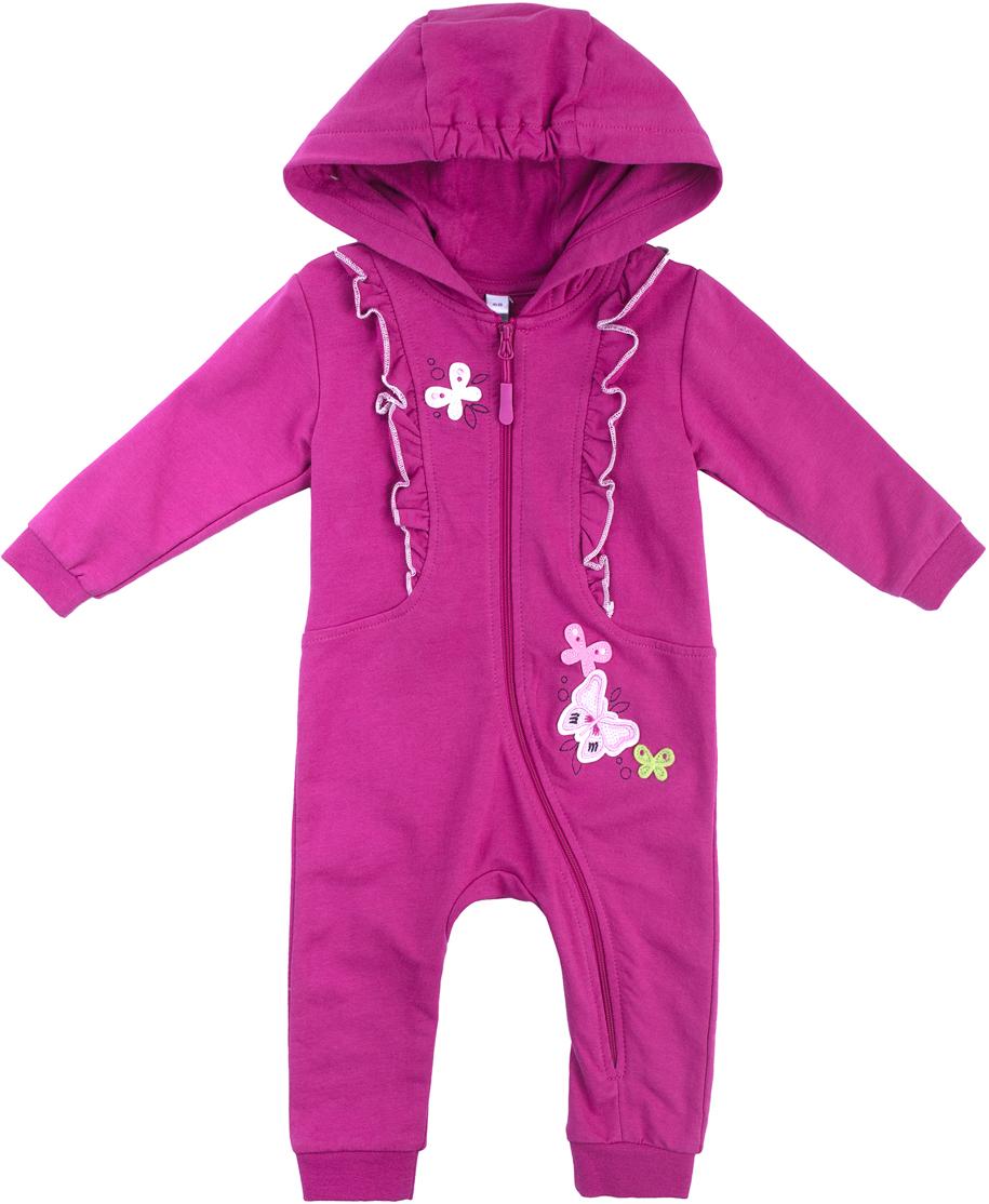 Комбинезон домашний для девочки PlayToday, цвет: розовый. 188851. Размер 56188851
