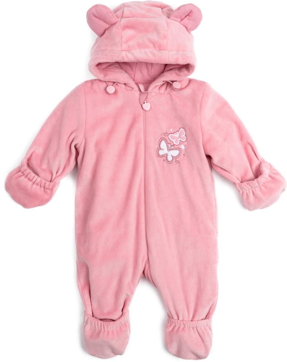 Комбинезон утепленный для девочки PlayToday, цвет: светло-розовый. 188803. Размер 62188803