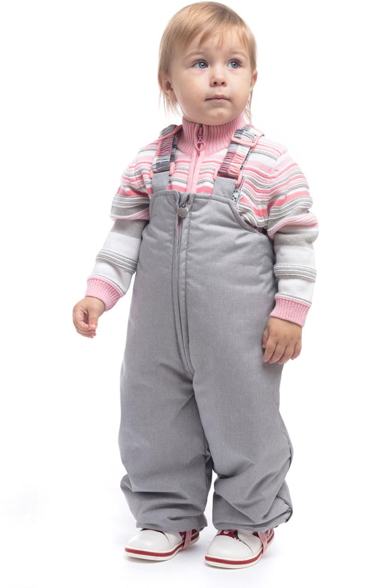 Комбинезон утепленный для девочки PlayToday, цвет: серый, белый, светло-розовый. 188003. Размер