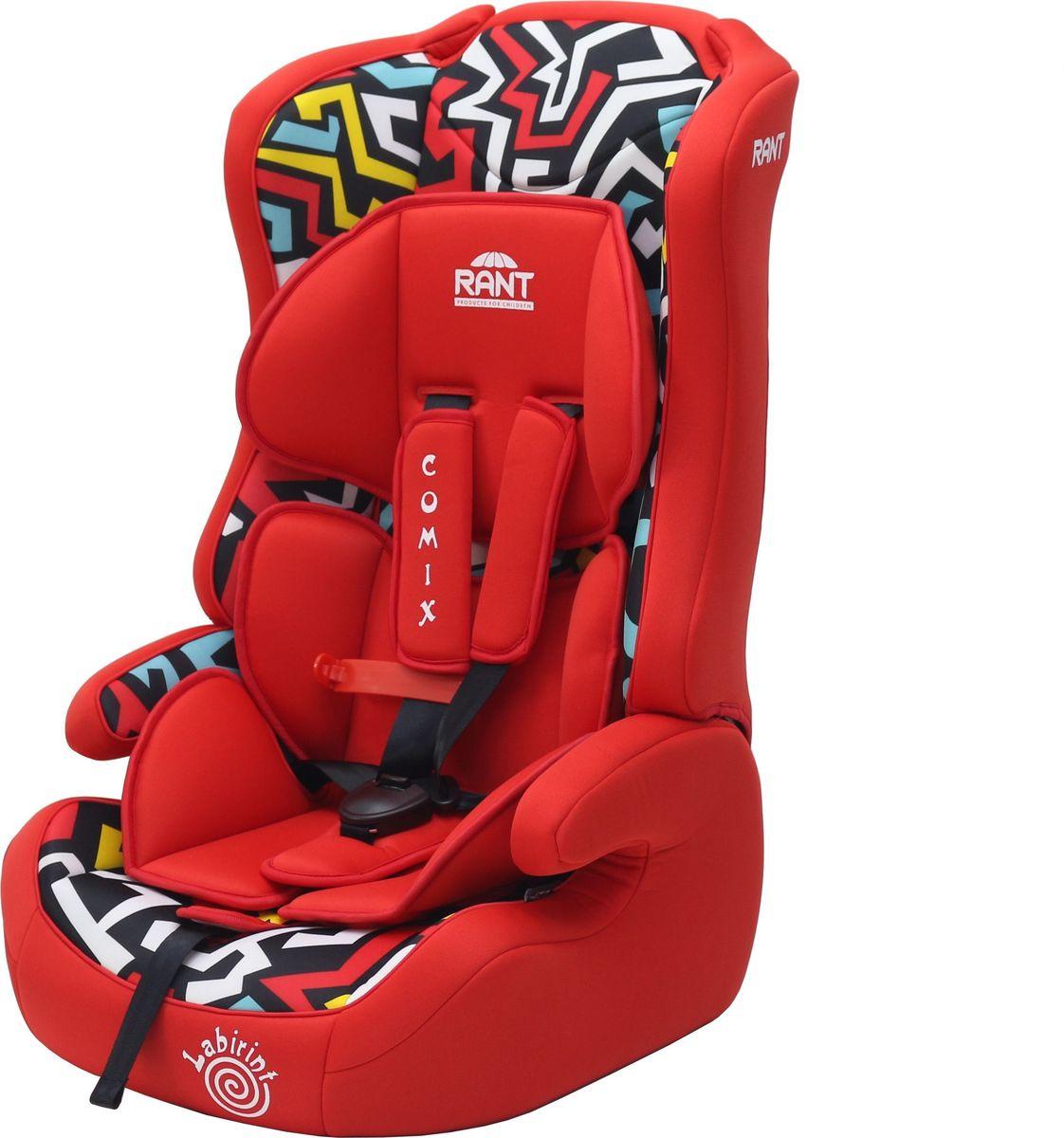 Rant Автокресло Comix Labirint цвет красный от 9 до 36 кг