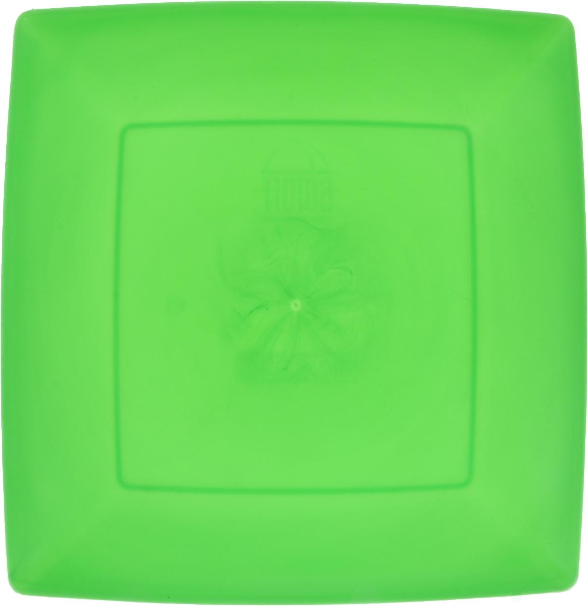Тарелка Gotoff, цвет: зеленый, 23,5 х 23,5 смWTC-633_зеленый