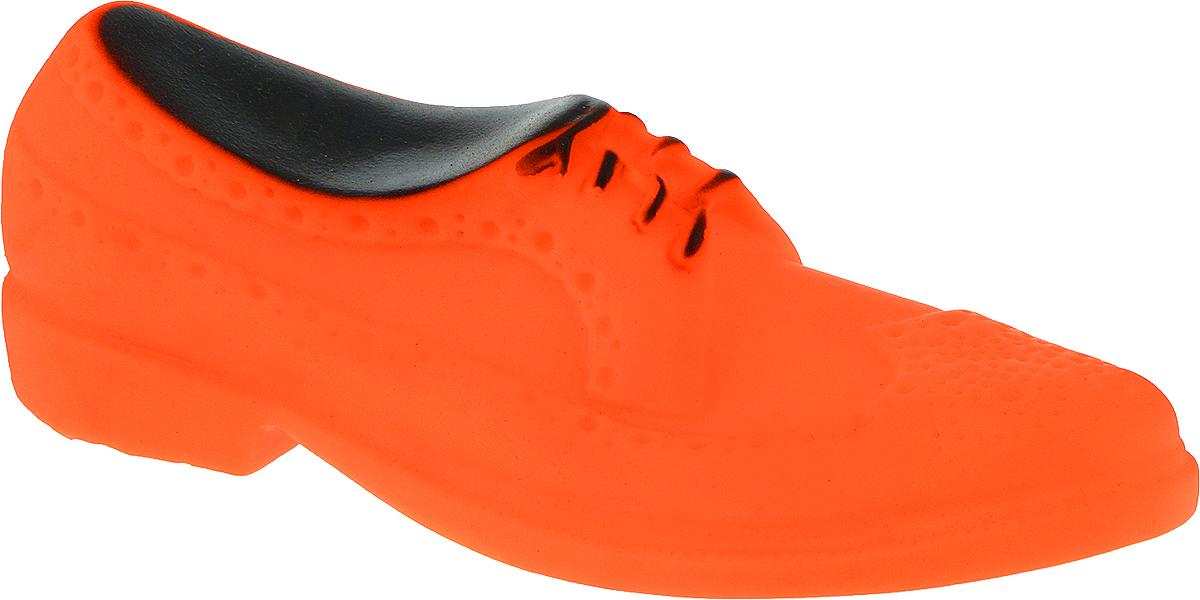 Игрушка для собак Уют Мужской туфель, цвет: оранжевый, 16 x 6 x 5,2 смИШ40_оранжевыйПодходит для собак мелких и средних пород. Прочные безопасные материалы. Яркая, привлекательная расцветка.