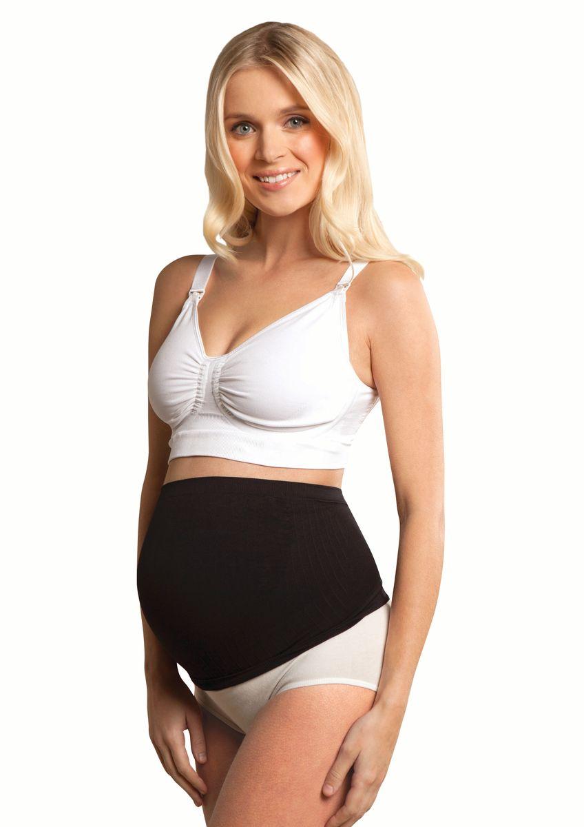 Бандаж-корсет для беременных Carriwell, бесшовный, цвет: черный. 5012. Размер L (52)