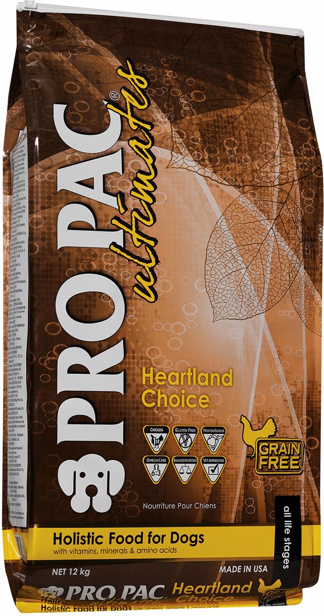 Корм сухой Pro Pac Ultimates Суперпремиум. Heartland Choice для взрослых собак, с курицей и картофелем, 12 кг ultimate comics new ultimates thor reborn