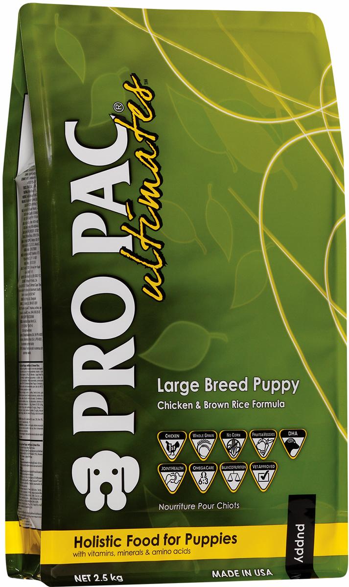Корм сухой Pro Pac Ultimates  Суперпремиум. Large Breed Puppy  для щенков крупных пород, с курицей и коричневым рисом, 2,5 кг - Корма и лакомства