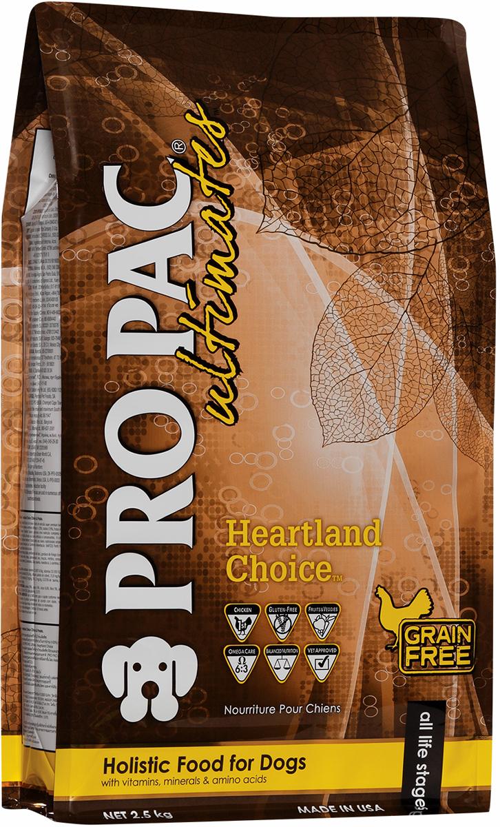 Корм сухой Pro Pac Ultimates Суперпремиум. Heartland Choice для взрослых собак, с курицей и картофелем, 2,5 кг 5v 4 channel relay module for arduino pic arm dsp avr msp430 blue