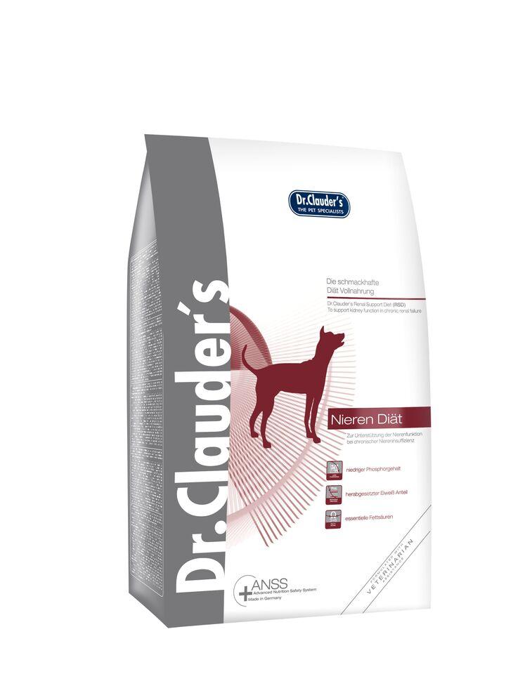Корм сухой Dr. Clauders RSD Kidney Diet, для почек собак, 4 кг200037Основная питательная цель: Dr.Clauders диета RSD (диета для почек) специально разработана для поддержания функции почек при хронической почечной недостаточности. Основные питательные характеристики: Низкое содержание фосфора, пониженное содержание белка, при высоком качестве белка. Coстав: Рис, ячмень, куриная мука, куриный жир, гидролизат белка, калия хлорид, клетчатка, карбонат кальция, натрия хлорид, порошок цикория, порошок из мяса мидии. Содержание питательных веществ: Cырой белок14%, cырой жир 10.5%, cырая клетчатка 2%, cырая зола 4%, влага 9.5%, кальций 0.6%, фосфор 0.45%, калий 0.5%, натрий 0,2%. Незаменимые жирные кислоты: линолевая кислота 1.3%, линоленовая кислота 0.12%, aрахидоновая кислота 0.01%, omega3 0.1%, omega6 1.3%.