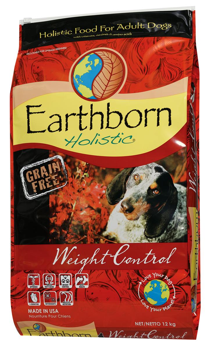 Корм сухой Earthborn Holistic  Суперпремиум. Weight Control  для взрослых собак, беззерновой, 12 кг - Корма и лакомства