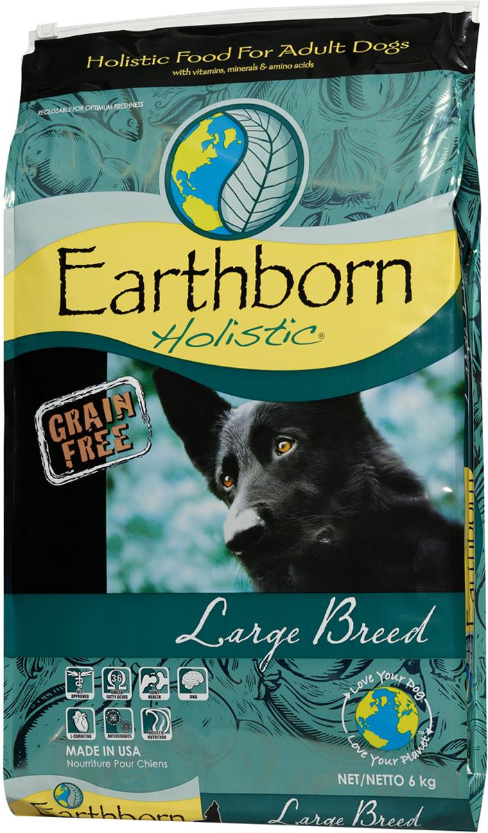 Корм сухой Earthborn Holistic  Суперпремиум. Large Breed Adult  для взрослых собак крупных пород, беззерновой, 6 кг - Корма и лакомства