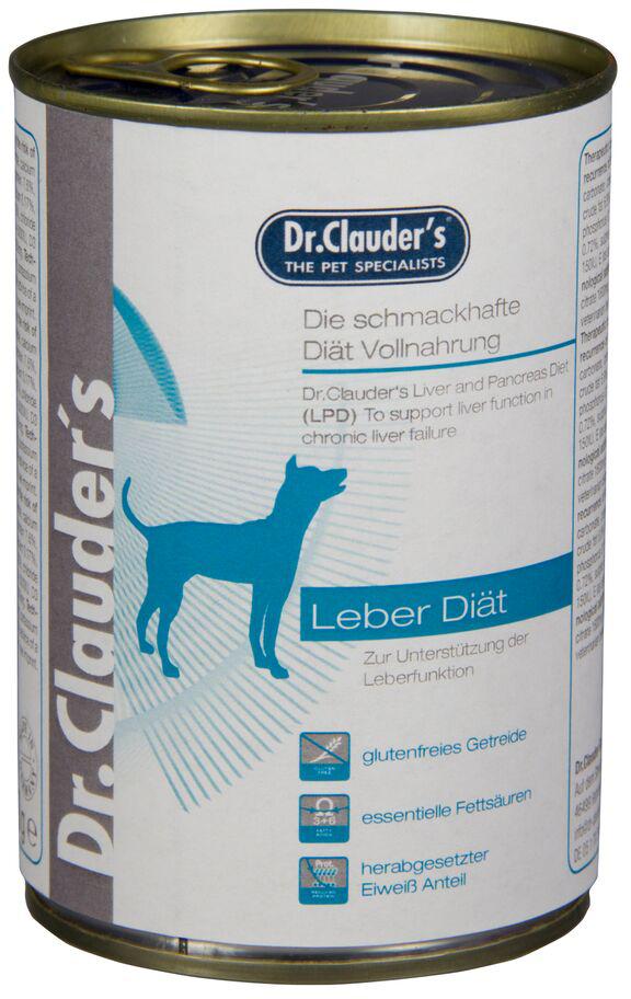 Корм консервированный Dr. Clauders LPD Liver Diet, для печени собак, 0,2 кг300508Терапевтическая полнорационная кормовая диета для собак. Dr. Clauders LPD была специально разработана для поддержания функции печени при хронической печеночной недостаточности. Основные питательные характеристики: белок высокого качества, умеренное содержание белка и жира, высокое содержание незаменимых жирных кислот, высокое содержание легко усвояемых углеводов.Ингредиенты: курица, рис, масло лосося, юкка Шидигера, ФОС, маннан-олигосахариды, карбонат кальция, хлорид натрия.Состав: сырой белок 5,5%, сырой жир 6,5%, сырая клетчатка 0,5%, сырая зола 2,3%, влага 75%, кальций 0,14%, фосфор 0,27%, натрий 0,14%, Омега 3 0,14%. Добавки/кг: витамин D3 500 МЕ, витамин Е альфа-токоферол ацетат 90мг, медь (меди сульфат пентагидрат) 0,75 мг, йодин (кальция йодат безводный) 0,75мг, марганец (сульфат марганца моногидрат) 3 мг, селен (селенит натрия) 0,03мг, цинк (сульфат цинка моногидрат) 15 мг, камедь кассии.