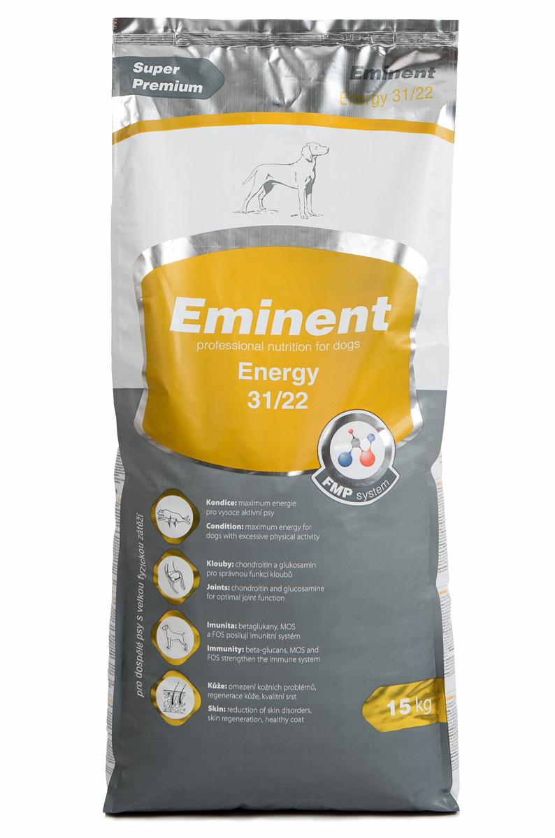 Корм сухой Eminent Суперпремиум. Energy для взрослых собак, подверженных физической нагрузке, 15 кг6800155Ингредиенты: мука из мяса курицы (32%), кукуруза, куриный жир, рис, рыбная мука, семена подсолнечника, ростки пшеницы, гидролизованное куриная печень, семена льна, дрожжи, кокосовое масло, MOS (маннанолигосахариды), FOS (фруктоолигосахариды), бета-глюканы, витамины, минеральные вещества, L-лизин, DL-метионин, лизин, метионин, холин хлорид, L-карнитин, глюкозамин, хондроитин сульфат, биотин, пробиотическая культура. Состав: протеин 31%, жир 22%