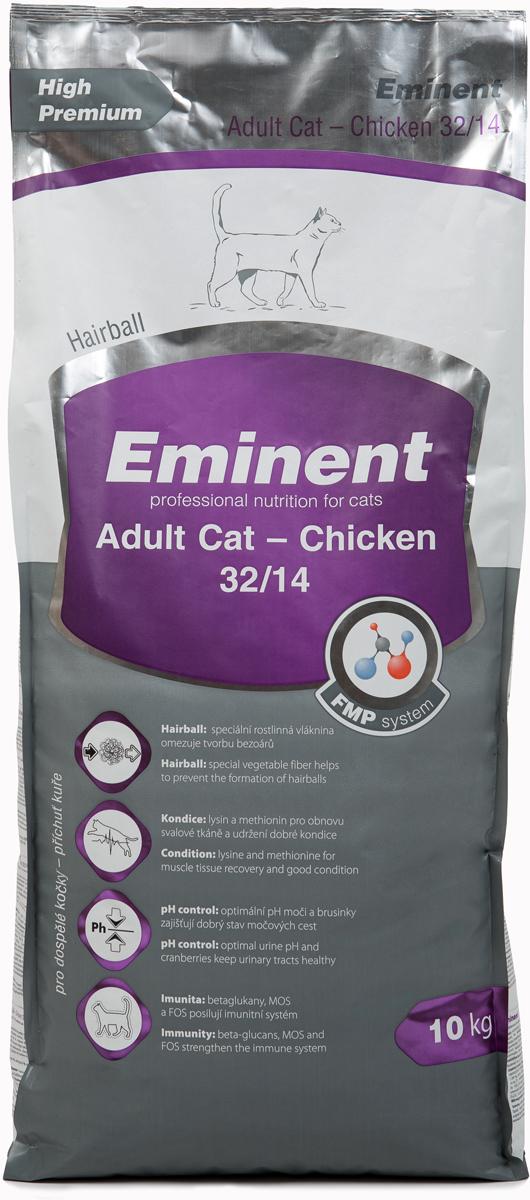 Корм сухой Eminent  Суперпремиум. Adult Cat  для взрослых кошек, с курицей, 10 кг - Корма и лакомства