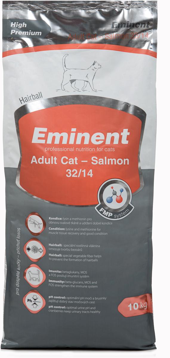 Корм сухой Eminent Суперпремиум. Adult Cat для взрослых кошек, с лососем, 10 кг