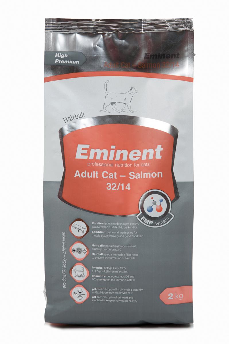 Корм сухой Eminent  Суперпремиум. Adult Cat  для взрослых кошек, с лососем, 2 кг - Корма и лакомства